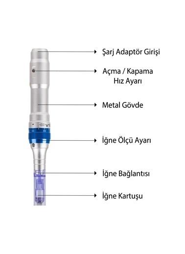 Dr.pen A6 Dermapen Orijinal Şarjlı Yedek Bataryalı Mikro İğneleme Cihazı Dr.Pen A6 Dermaroller Renksiz
